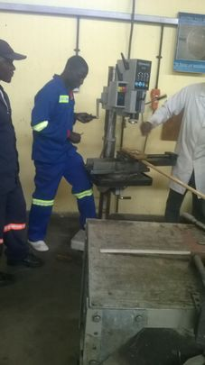 Peter learning boilermaking at training center