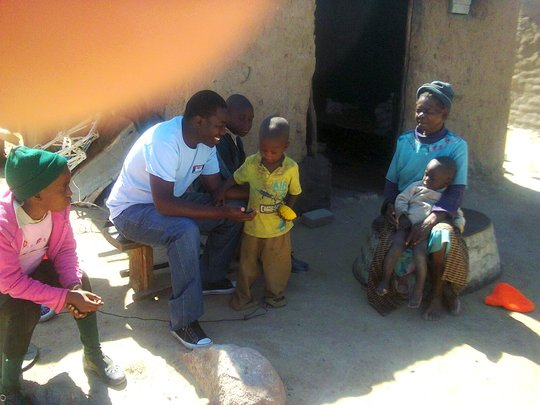 We meet with caregivers in Methodist settlement