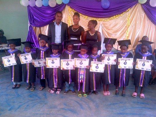 Washie, Samantha and Sithabisiwe with graduates