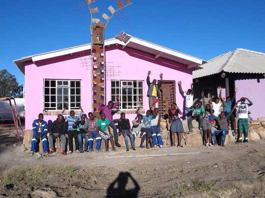 ZImkids who learned to build a new training center
