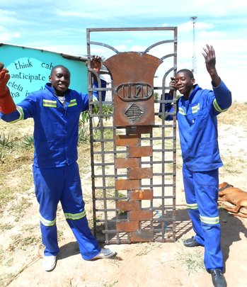 Ngqabutho and Zibu created a zipper security door