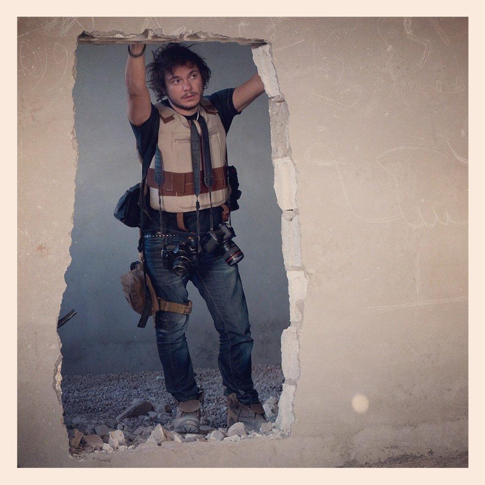 Fabio Bucciarelli with RISC kit in Syria