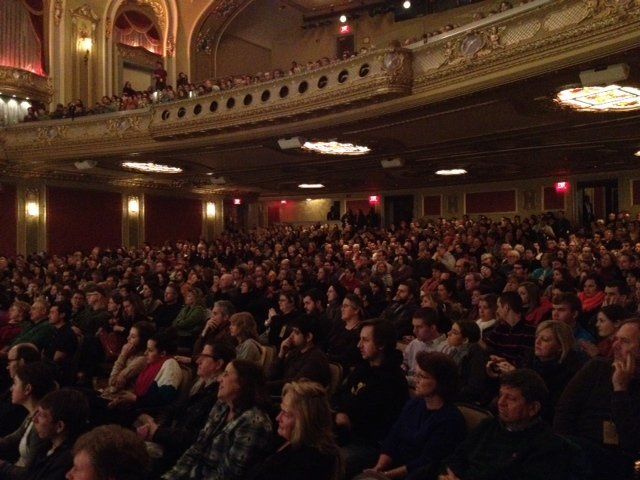 "A packed screening of ""Which Way"" at a fest in MO"