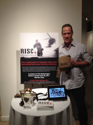 Junger promoting RISC at Sundance