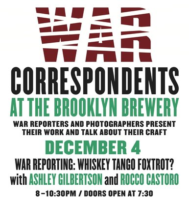 The last War Correspondents event of 2013