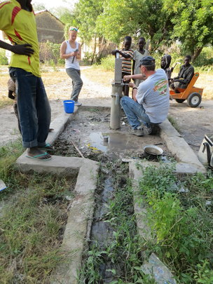 Repairing the New Clinic hand pump