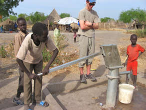 Kids testing a well
