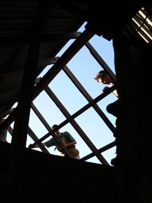 Dusk on the building site
