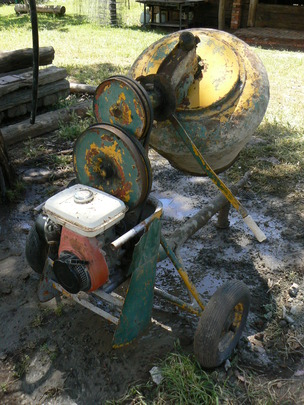 The old mixer after a hard day's work