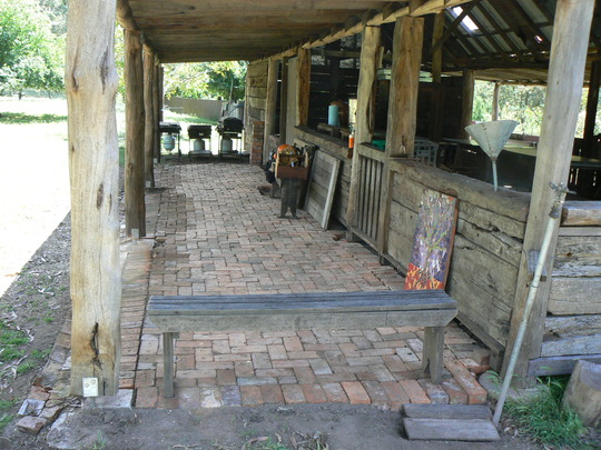 New paving and more wall building