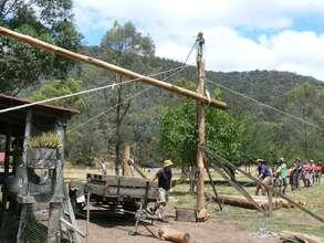 Raising the ridge beam