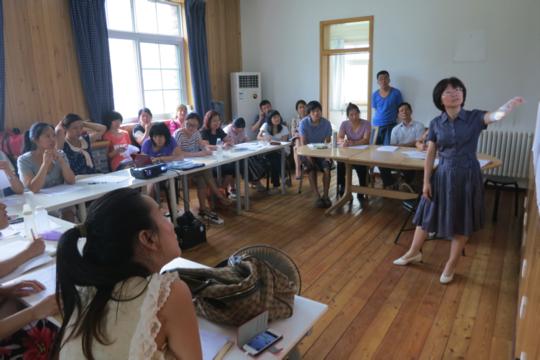 Judy, Bethel's Education Director teaching a class