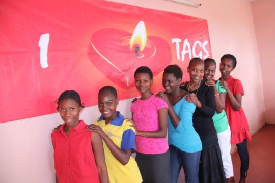Girls at TAGS Shelter