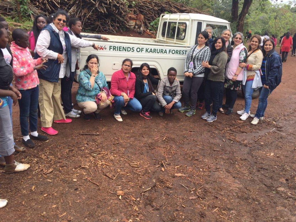 Shortly after arriving at Karura forest