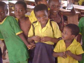 School children without school materials
