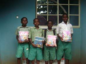 School children holding their school materials 2