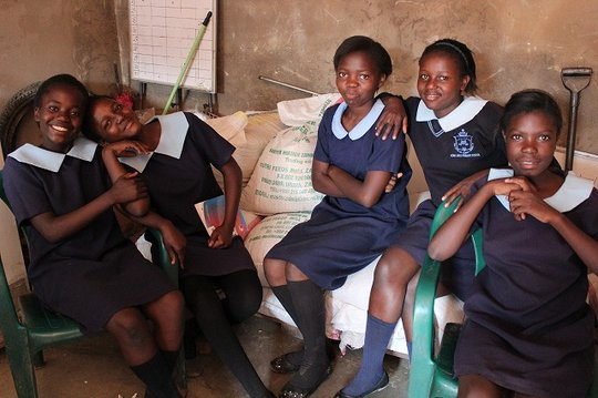 The HIV/AIDS orphans we support visit us often