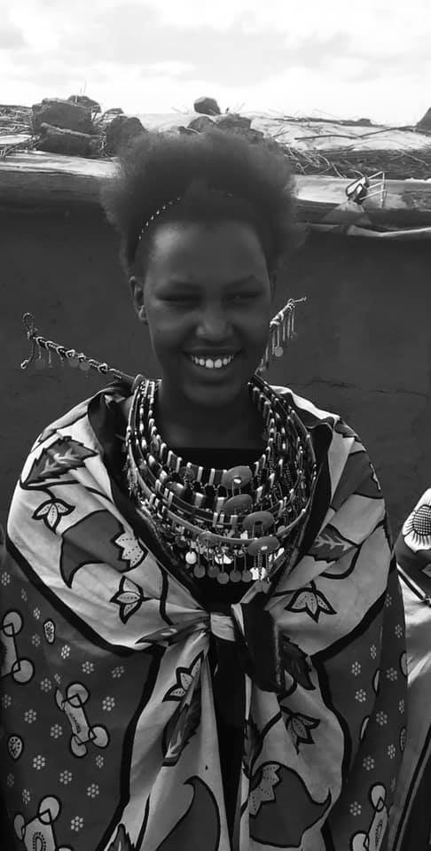 Pulei in her Maasai traditional clothes