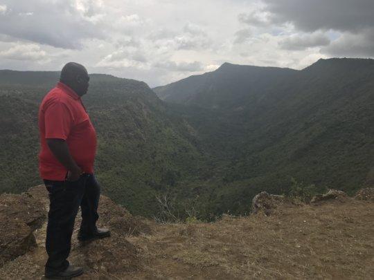 Pastor Benjamin at Mt. Suswa conservancy