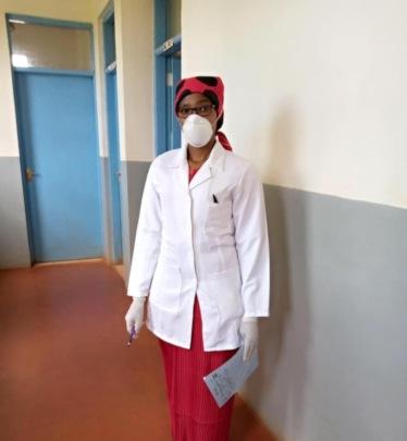 Elizabeth during her internship