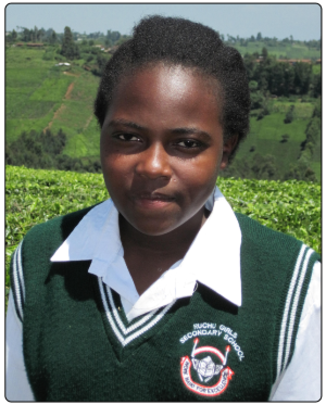 Christine completed secondary school