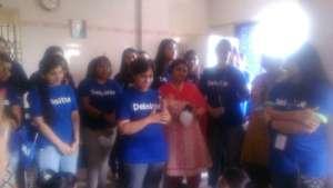 Volunteers from Deloitte' company,