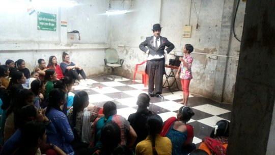 Spreading Smile NGO arranged entertainment program