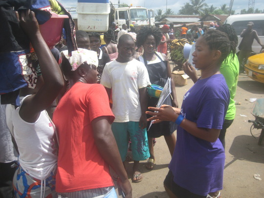 Stopping to hear about clubfoot.
