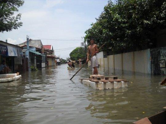 Flooded street Angono Municipality, Rizal Province