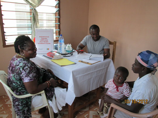 The doctor, Sister Kafui and 2 of our Patients