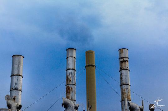Smokestacks in MI (CC courtesy MjZ Photography)
