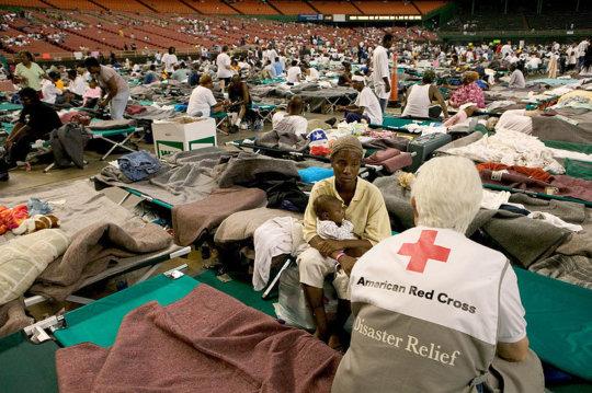 Shelter after Katrina (CC courtesy Andrea Booher)