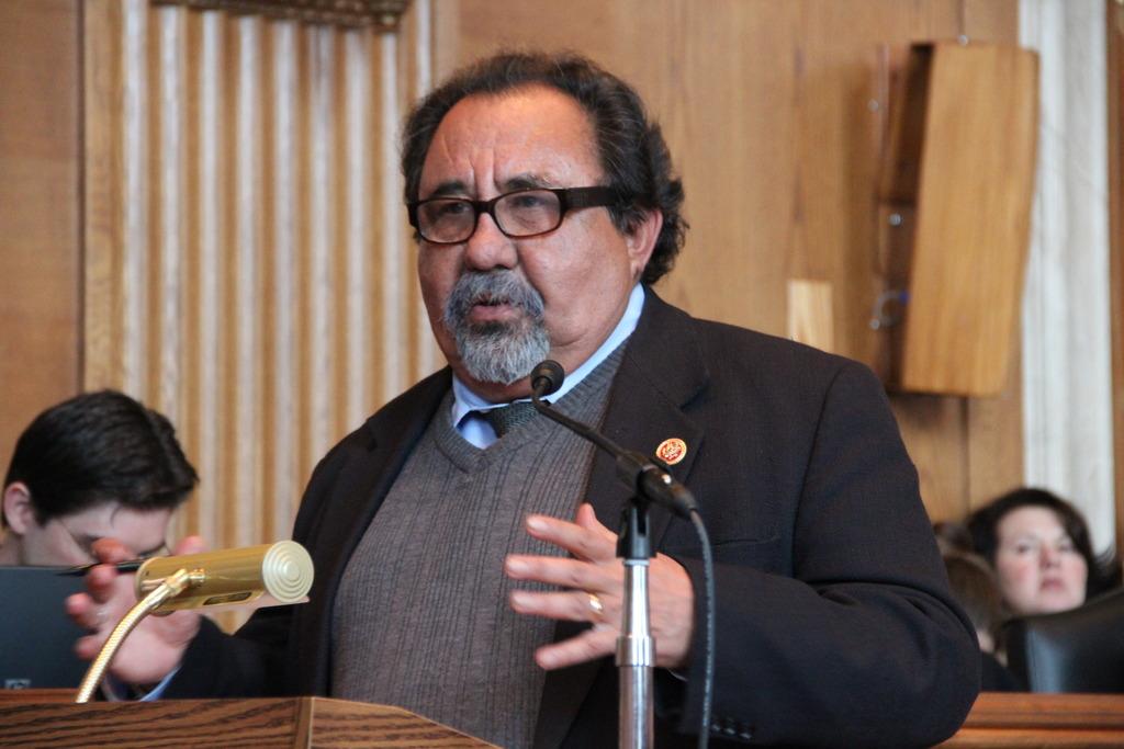Rep. Raul Grijalva (D-AZ) opens the discussion.