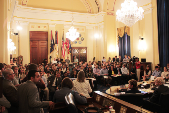 Standing room only at climate-security briefing