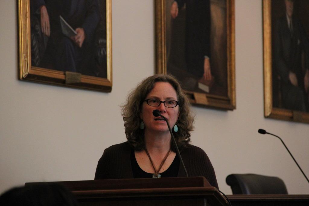 Margaret Bowman speaking at Southwest briefing