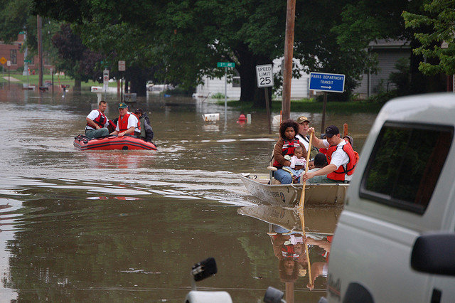 Rescued Flood Victims, Iowa