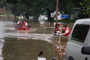 Rescued Flood Victims, Iowa
