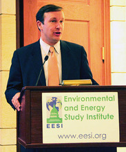 Sen. Chris Murphy speaking at EESI's briefing