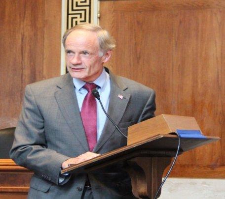 Senator Thomas Carper opening up the briefing