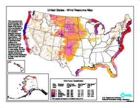 The map illustrates how strong offshore winds are