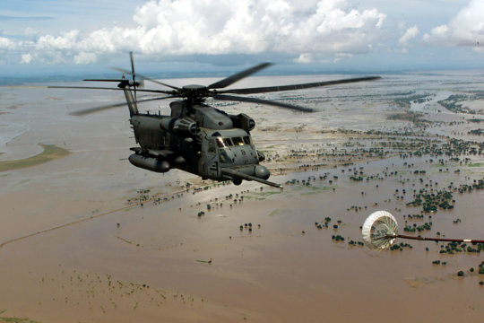 Relief after flooding in Africa (U.S. Air Force)