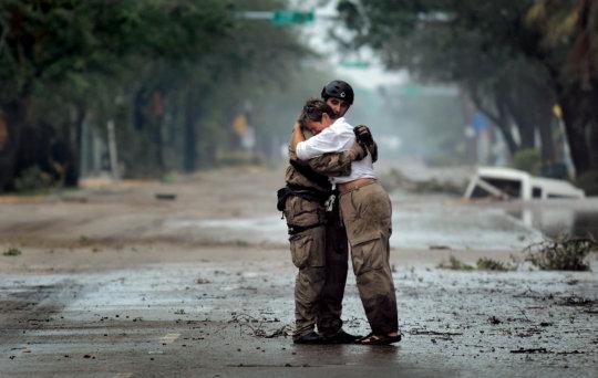Hugs After Katrina (CC courtesy U.S Air Force)