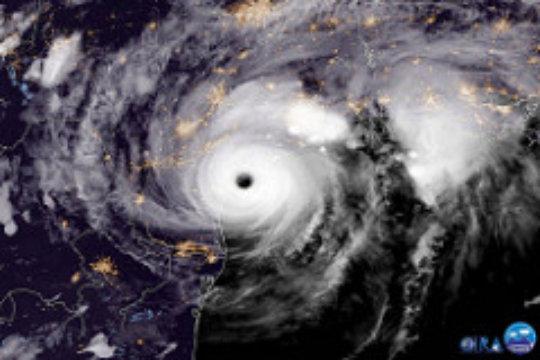 Harvey prior to hitting Texas