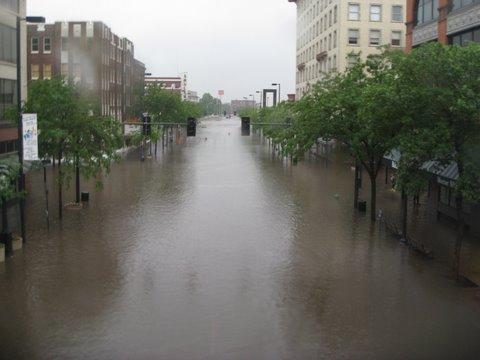 Flood in Cedar Rapids, Iowa