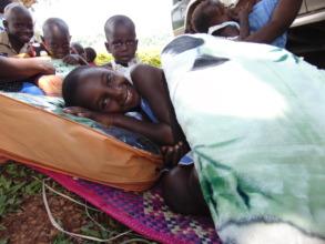 Children enjoying their blankets