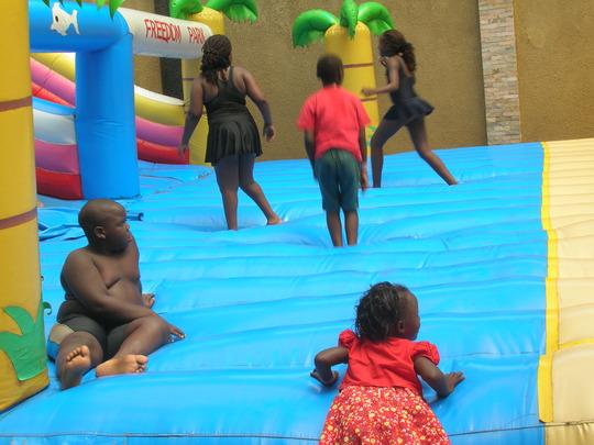 Children in a kids play center