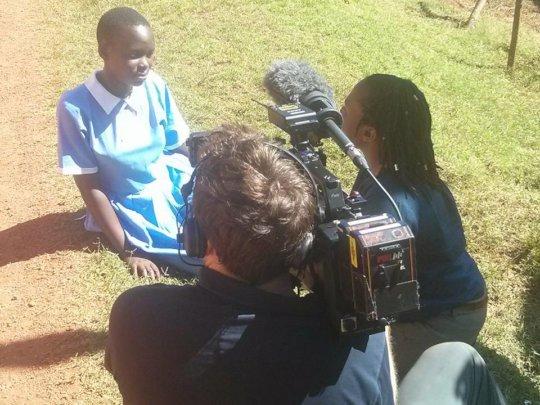 Josephine being interviewed