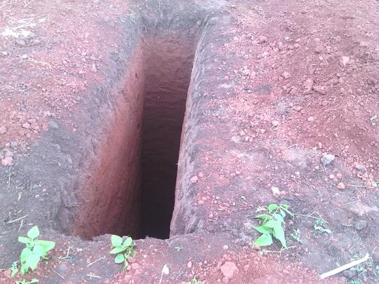 Pit latrine digging in progress