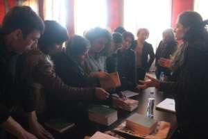 Radarami distributing books for free!