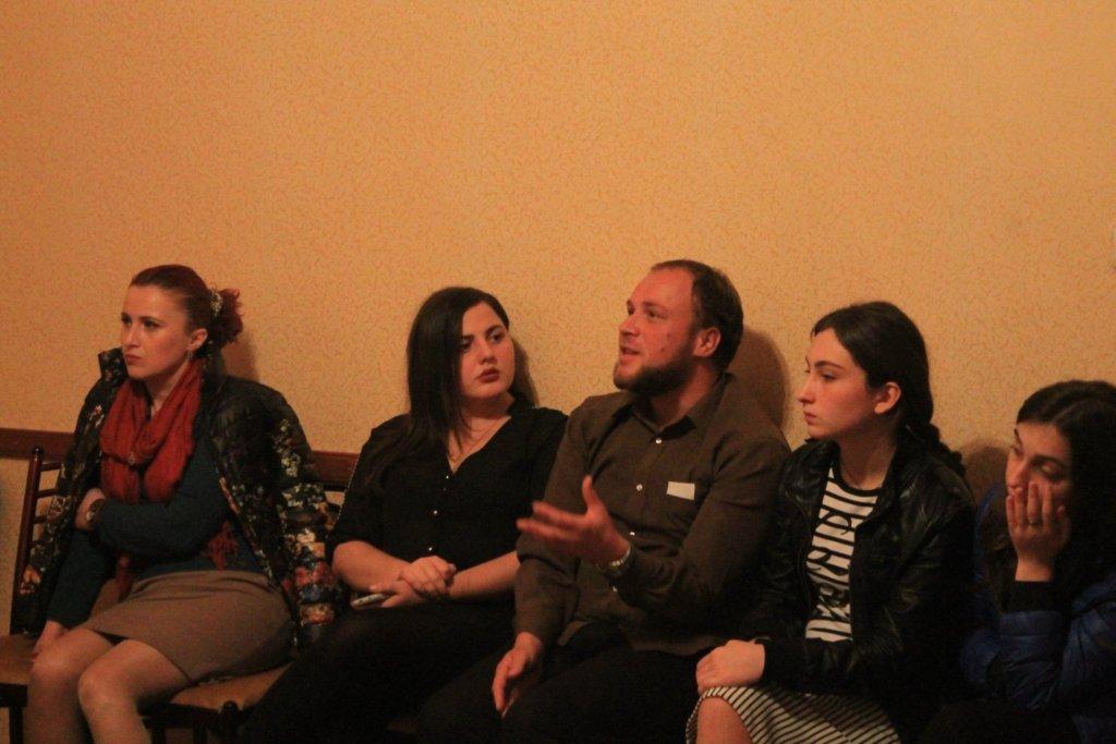 Discussion in Kutaisi, Imereti, 30 November 2015